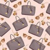 Fashion Pattern Of Women Bags Royalty Free Stock Photography