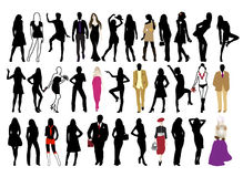 Fashion people Stock Photography