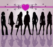 Fashion people -  vector. Fashion people  - girls and boy-  vector Stock Image