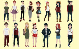 Fashion people vector. For your ideas Stock Images
