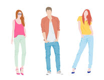 Fashion people Royalty Free Stock Images