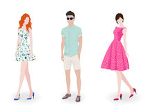Fashion people Royalty Free Stock Photos