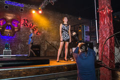 Fashion performance Art Chaos in night club Black Rose in Kirov Stock Photography