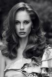 Fashion photo of beautiful girl in elegant dress Stock Images