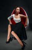 Fashion photo of beautiful lady in elegant dress Stock Photography