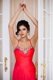 Fashion photo of beautiful lady in elegant evening dress Royalty Free Stock Photography