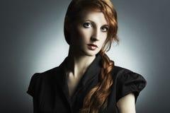 Fashion photo of a beautiful young woman stock photo