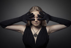 Fashion photo of blond woman Stock Photography