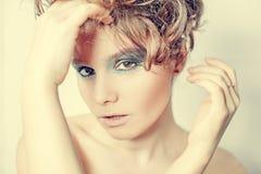 Fashion photo of brunett  beauty Royalty Free Stock Photos