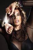 Fashion photo of brunette lady. Royalty Free Stock Images