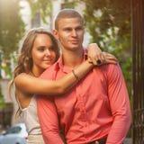 Fashion photo of couple Stock Image