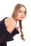 Fashion photo elegant girl in dress Royalty Free Stock Image