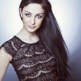 fashion photo of elegant lady Royalty Free Stock Photos