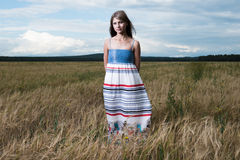 Fashion photo of young beautiful woman Royalty Free Stock Photos