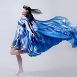Fashion photo of young magnificent woman in blue Stock Photo