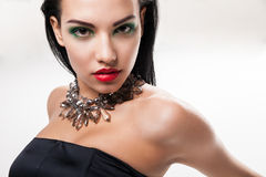 Fashion photo of young magnificent woman Stock Image