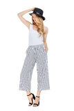 Fashion photo of young magnificent woman wearing fashionable summer clothes Stock Photography