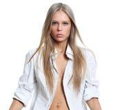 Fashion photo of young sensual woman Royalty Free Stock Photos