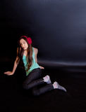 Fashion photo of young teenager girl. Royalty Free Stock Photos