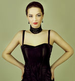 Fashion photo of young  woman Royalty Free Stock Photography