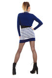 Fashion photo of young woman in full length. Girl posing. Royalty Free Stock Photos