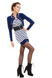 Fashion photo of young woman in full length. Girl posing. Stock Photo