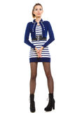 Fashion photo of young woman in full length. Girl posing. Royalty Free Stock Photography