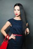 Fashion photo of young woman. Girl posing stock photo