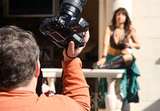 Fashion Photographer. Photographer at work (low depth of field) focus on photographer stock photography
