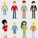 Fashion Pixel People Royalty Free Stock Image