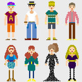 Fashion Pixel People Royalty Free Stock Photos