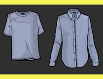 FASHION PLATE SHIRT AND T-SHIRT. Useful fashion-plates for t-shirt and shirt Royalty Free Stock Image