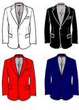 Fashion Plates Formal Jacket for Man. A useful graphic for your fashion choise. An elegant formal jacket to match wit a formal trousers or jeans Stock Image