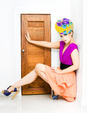 Fashion Police Blocking Doorway Royalty Free Stock Photos