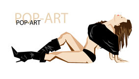 Fashion pop-art girl illustration Royalty Free Stock Images