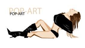 Fashion pop-art girl illustration. Fashion pop-art girl vector illustration on a white background Royalty Free Stock Images