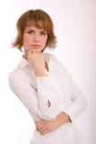 Fashion portrait. Studio portrait of the beautiful girl royalty free stock photography