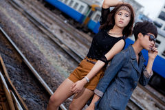 Fashion portrait asian girl Royalty Free Stock Photography