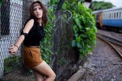 Fashion portrait asian girl Royalty Free Stock Photography