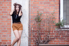 Fashion portrait asian girl Stock Photography