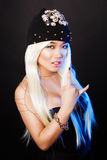 Fashion portrait of a asian model in glamor rock Stock Photo
