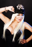Fashion portrait of a asian woman in glamor rock Stock Photo