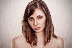 Beautiful portrait brunette stock image