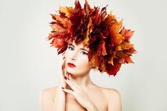 Fashion Portrait of Beautiful Autumn Woman