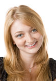 Fashion portrait of beautiful blond girl Stock Photos