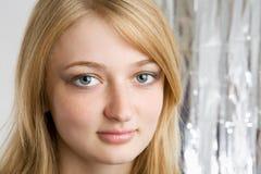 Fashion portrait of beautiful blond girl Royalty Free Stock Photo