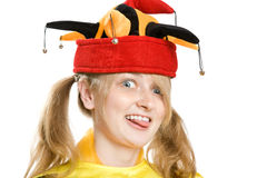 Fashion portrait of beautiful blond girl Stock Image