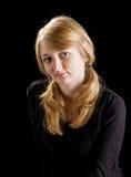 Fashion portrait of beautiful blond girl Royalty Free Stock Photography
