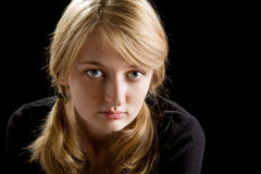 Fashion portrait of beautiful blond girl Royalty Free Stock Images