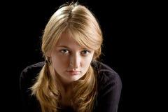 Fashion portrait of beautiful blond girl Stock Photography